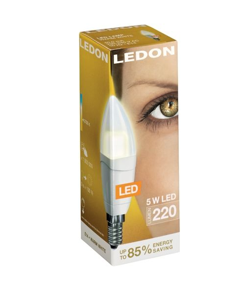 Ledon Candle 5W E14 2000K Clear Cover Dimmable