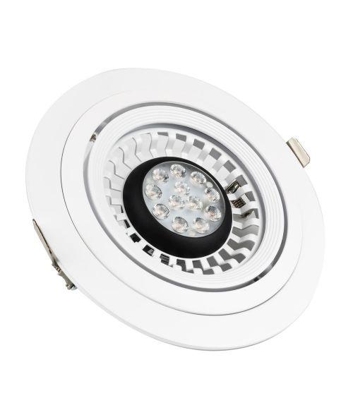 Circular LED Gimbal with AR111 Spot 12.5 Watt