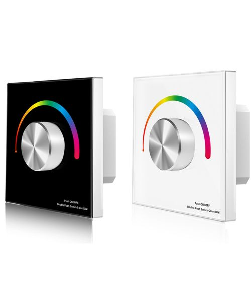 RGB Rotary LED Constant Voltage Controller - Touch Glass Panel