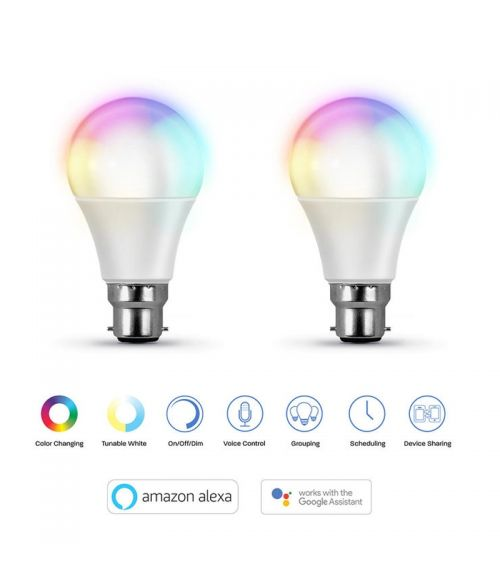 2-Pack Smart Bulbs 9Watt Amazon Alexa & Google Assistant