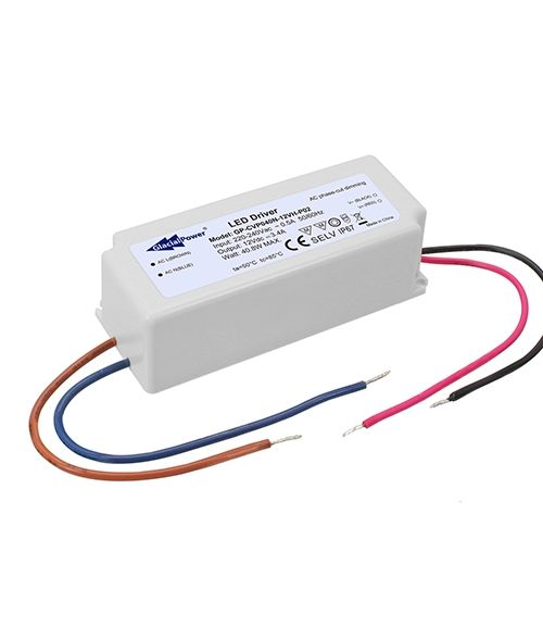 GP-CVP040N LED Constant Voltage Driver with TRIAC Dimming - 24V