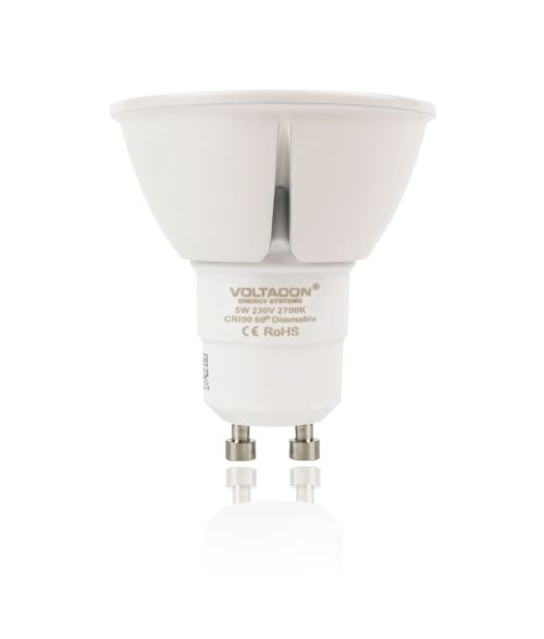 LED Spot GU10 5W - 2700K, Dimmable, 60° Beam Angle