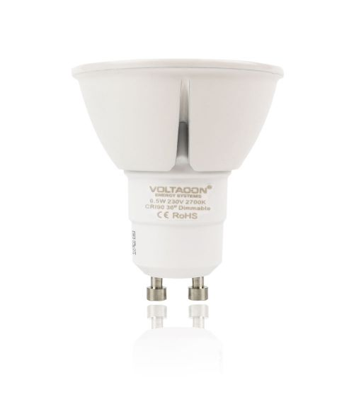 LED Spot GU10 6W - 2700K, Dimmable, 36° Beam Angle