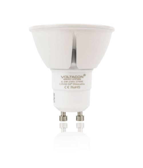 LED Spot GU10 6W - 2700K, Dimmable, 60° Beam Angle