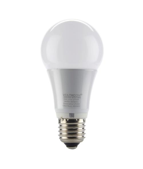 Ledison Globe LED Bulb - 8W, E27, A65, Warm White, 2700K, 230V