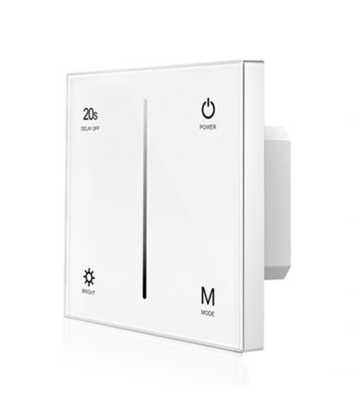 LED Dimmer Switch - AC TRIAC - Touch Glass Panel White