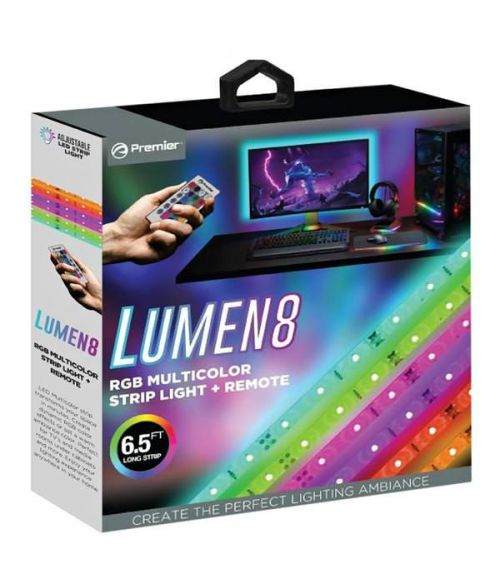 Lumen8 RGB multicolour LED strip light and remote USB Power