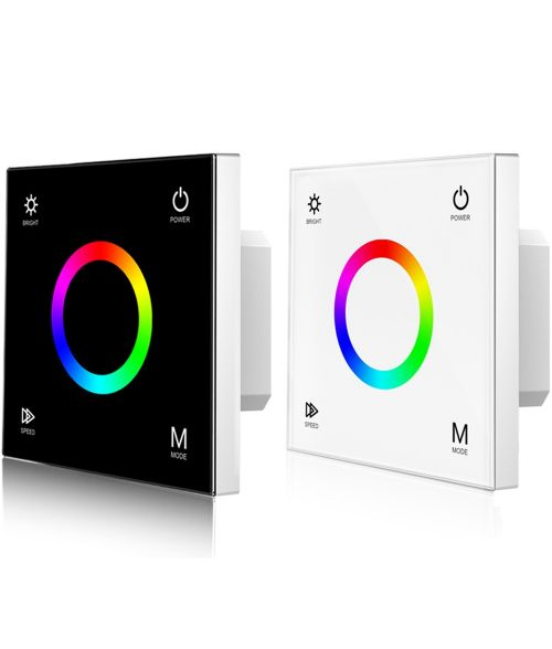 RGB LED Dimmer Switch - Touch Glass Panel