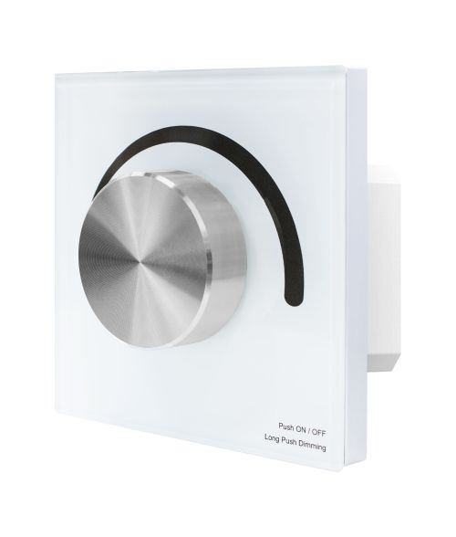 Rotary Panel AC Mains Dimmer Switch White/Black