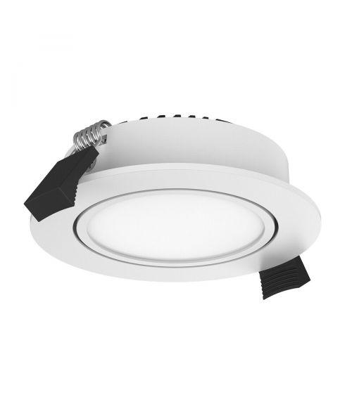 LED Round Recessed Downlight. 10Watt Dimmable Natural White. Aluminium. White