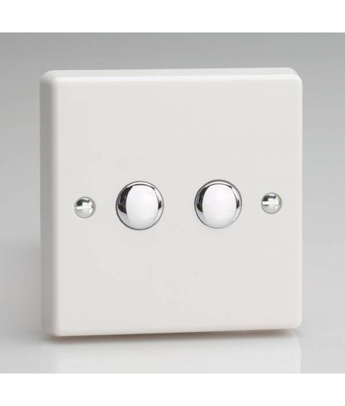 Varilight V-Pro Remote Dimmer Switch, 2 gang