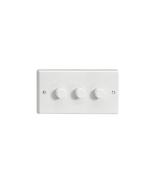 V-Com Dimmer Switch Varilight, 3-gang twin plate