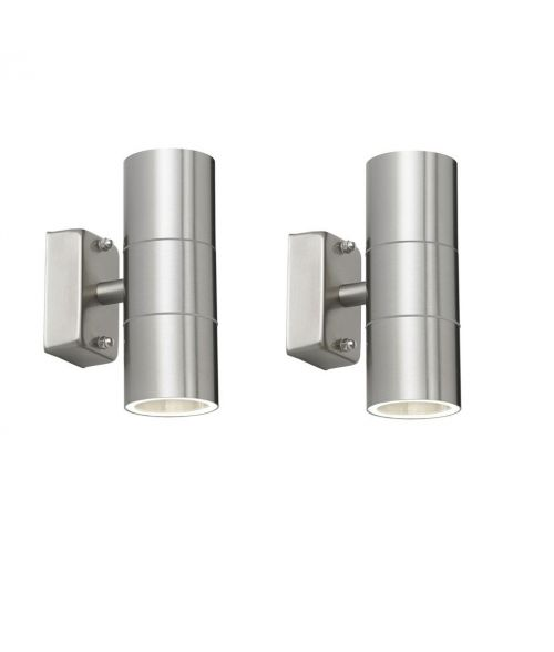 Paradise Stainless Steel Outdoor Wall Lights. IP65. Option LED Spots