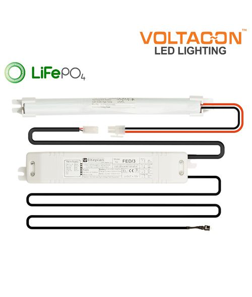 Liteplan Slim Emergency Pack FED/3 with LiFePO4 Battery