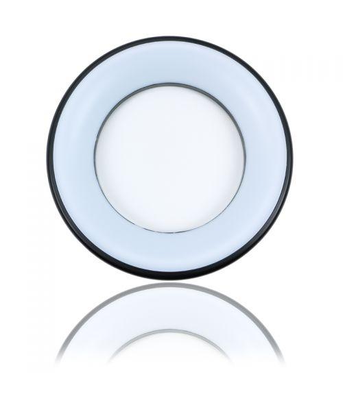 Uranus Circular Ceiling LED Light 25W in Silver & Black