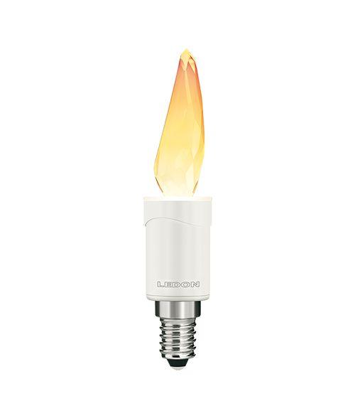 Ledon LED Crystal Flame 3W E14 2700K Dimmable