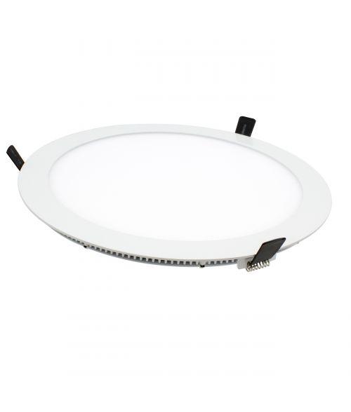 LED Round, Flat, Slim Panel Light 22W. Recessed Downlight
