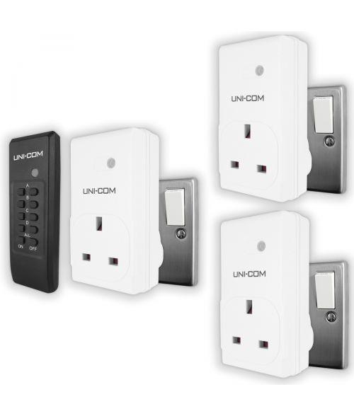 UNI-COM Remote Control Sockets. Pack of 3