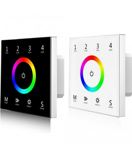 RGB 4 Zones Remote Control - Touch Glass Panel (100-240VAC Input)