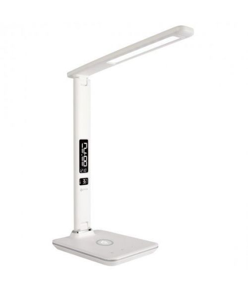 Explorer LED Desk Lamp, dimmable, three colour temperatures, wireless phone charger