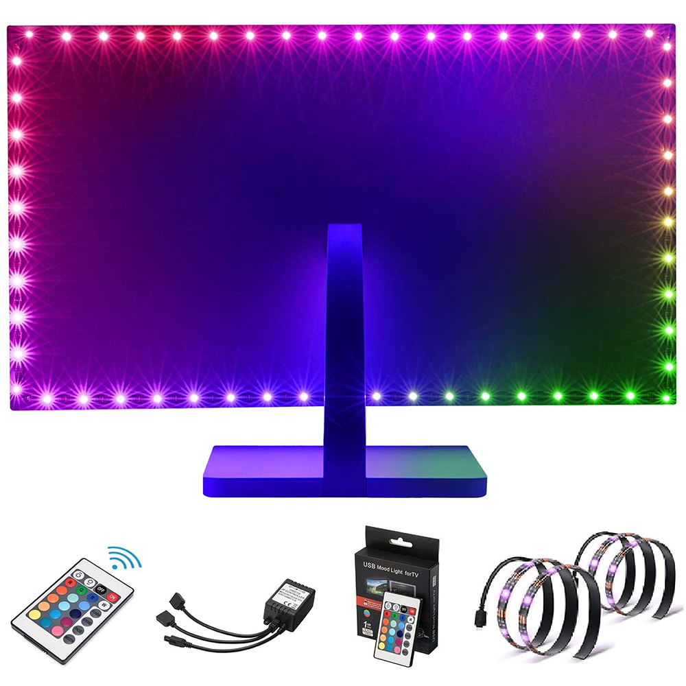 led strip multi colour on computer gaming screen